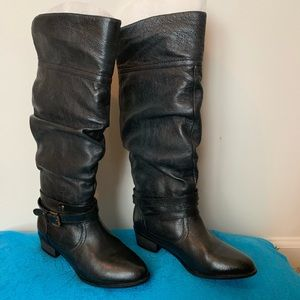 Steve Madden Slouch Leather Boots